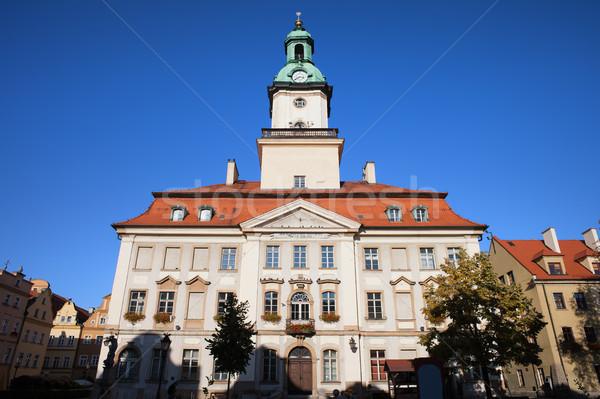 Stadhuis gebouw stad mijlpaal Polen klassiek Stockfoto © rognar