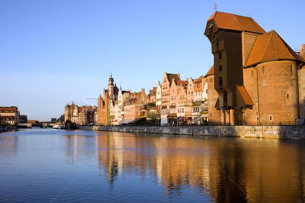 Città danzica Polonia città vecchia fiume Foto d'archivio © rognar