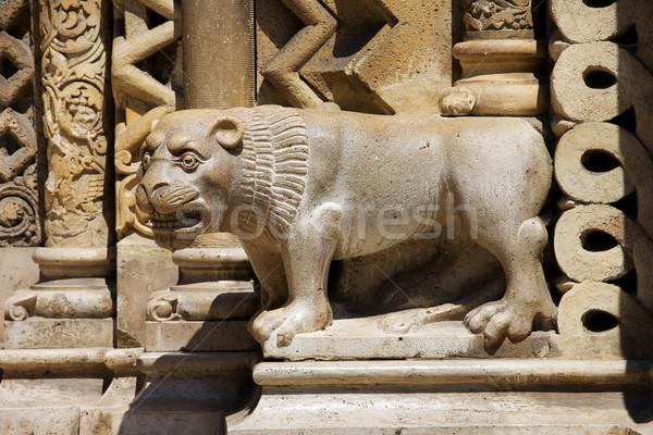 Pedra guardião capela escultura Budapeste Hungria Foto stock © rognar