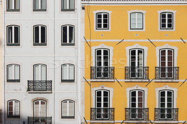 Traditional Row Houses in Lisbon Stock photo © rognar
