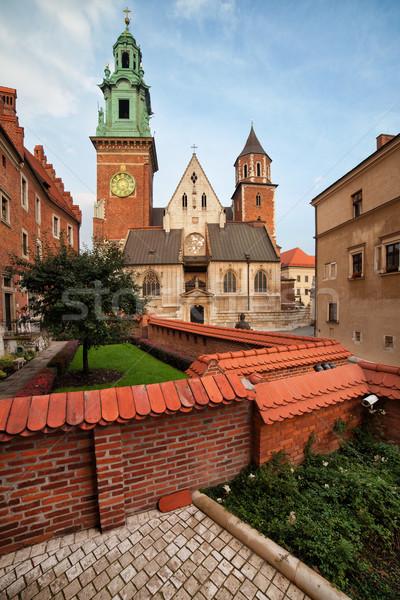 Katedrális Krakkó Lengyelország templom kastély gótikus Stock fotó © rognar