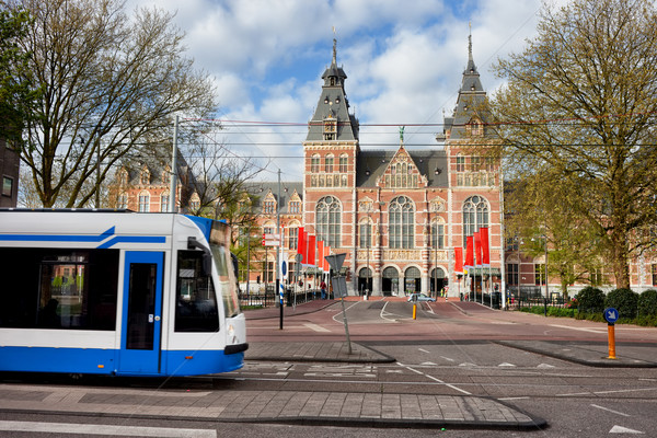 Stok fotoğraf: şehir · Amsterdam · tramvay · sokak · Hollanda · kuzey
