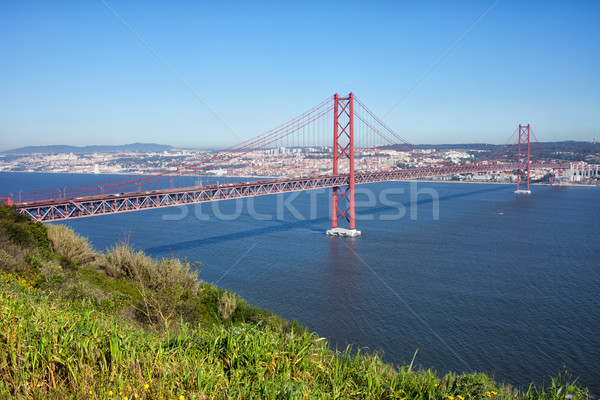 25th of April Bridge in Lisbon Stock photo © rognar
