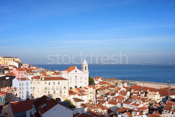 市 リスボン ポルトガル 表示 地区 ストックフォト © rognar