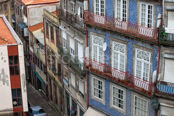 Traditional Portuguese Houses in Porto Stock photo © rognar