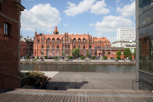 Principal oficina de correos edificio Polonia río Foto stock © rognar