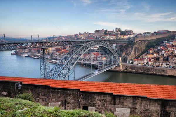 Paisaje urbano Portugal puente edificio ciudad casa Foto stock © rognar