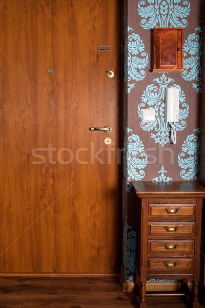 парадная дверь современных ретро дизайна домой Сток-фото © rognar