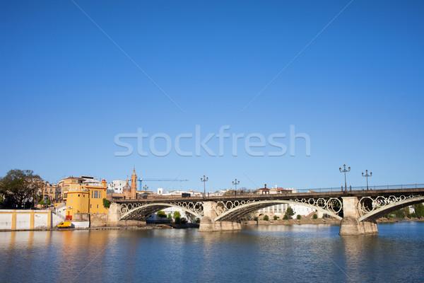 Triana Bridge in Seville Stock photo © rognar