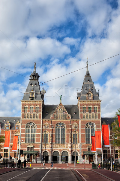 Amsterdam beroemd stad mijlpaal Nederland noorden Stockfoto © rognar