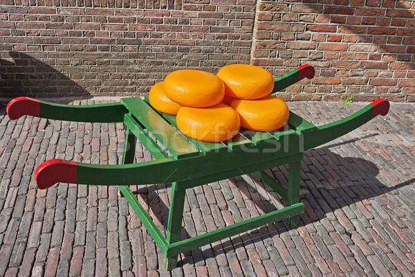 Wheels of Dutch Gouda Cheese Stock photo © rognar