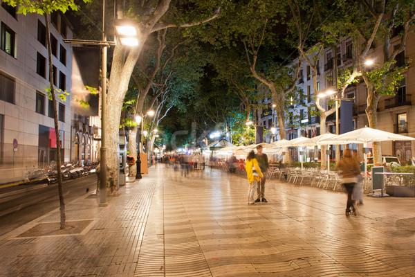 LA éjszaka Barcelona város fény utca Stock fotó © rognar