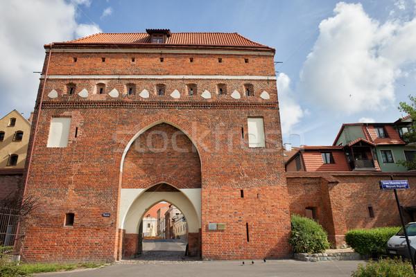 ворот средневековых укрепление город стены городского Сток-фото © rognar