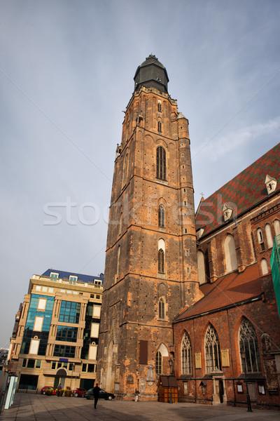 St. Elizabeth's Church Tower in Wroclaw Stock photo © rognar