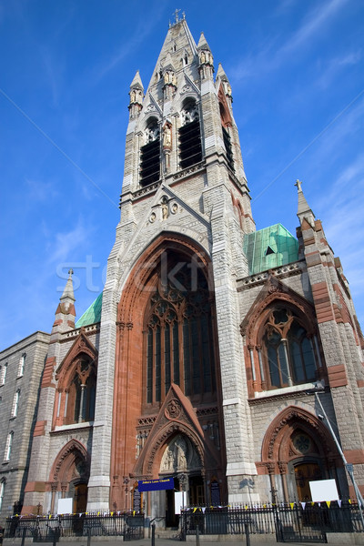 Sáv templom Dublin Írország égbolt épület Stock fotó © rognar
