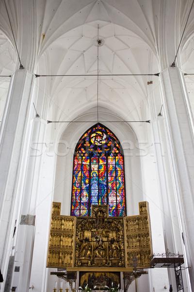 Iglesia gdansk basílica virgen interior Foto stock © rognar