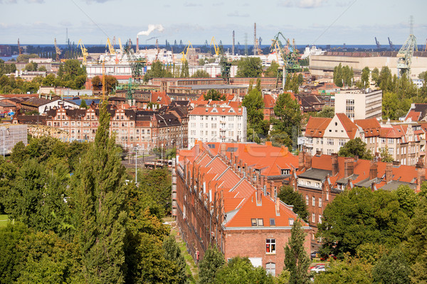Foto d'archivio: Industriali · quartiere · danzica · città · Polonia · costruzione