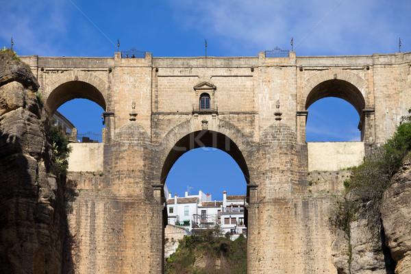 új híd spanyol 18-adik század Andalúzia Spanyolország Stock fotó © rognar