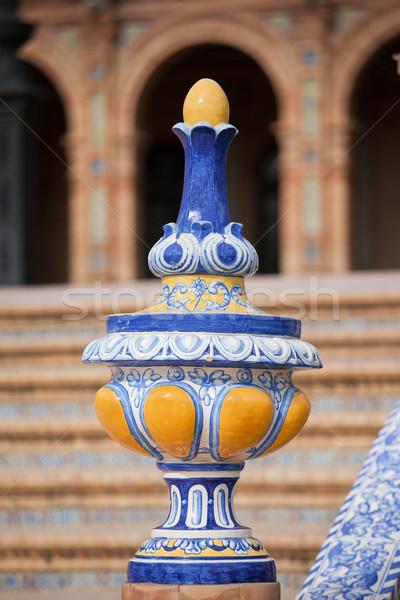 Azulejo Glazed Finial Stock photo © rognar