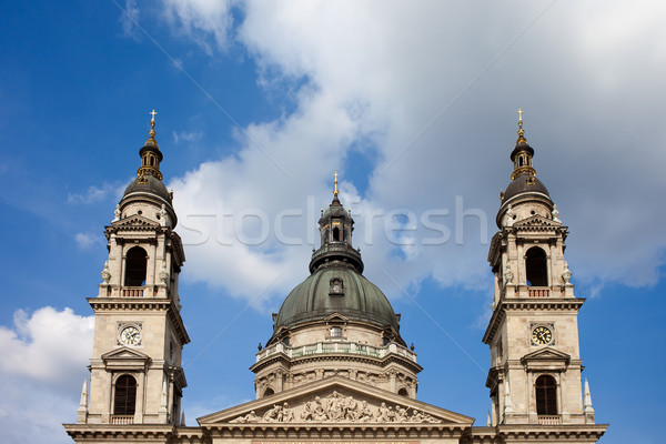 St. Stephen's Basilica Dome and Bell Towers Stock photo © rognar