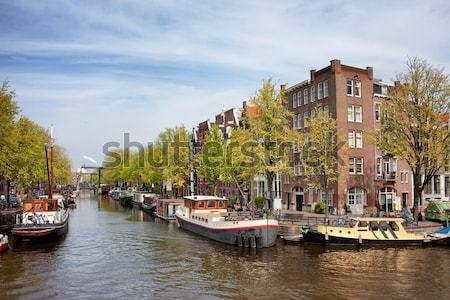 City of Amsterdam River View Stock photo © rognar