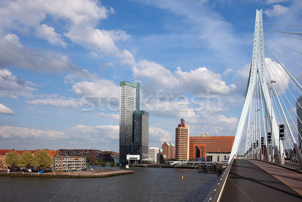 Stock photo: City of Rotterdam from Erasmus Bridge