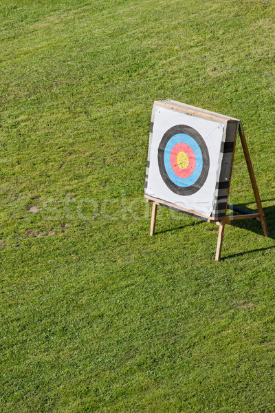 Archery Round Target on a Stand Stock photo © rognar