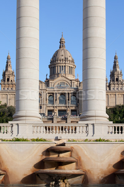 National Art Museum of Catalonia in Barcelona Stock photo © rognar
