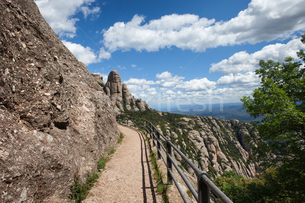 Footpath in the Montserrat Mountains Stock photo © rognar