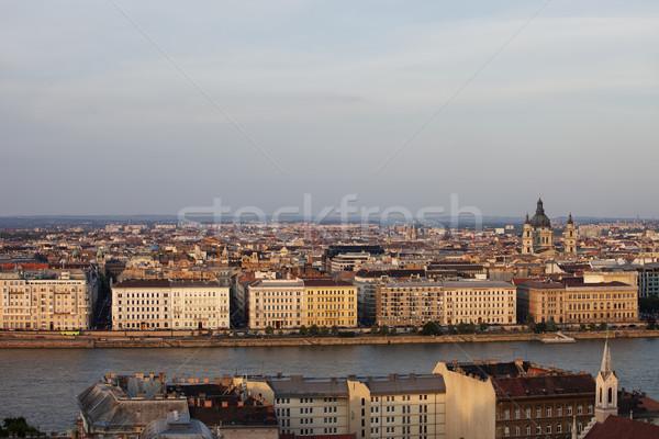 Città Budapest tramonto Ungheria view lato Foto d'archivio © rognar