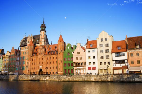 Città vecchia danzica città Polonia fiume Foto d'archivio © rognar