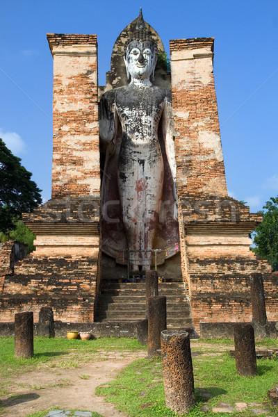 Buda taş mimari Asya heykel kültür Stok fotoğraf © rognar