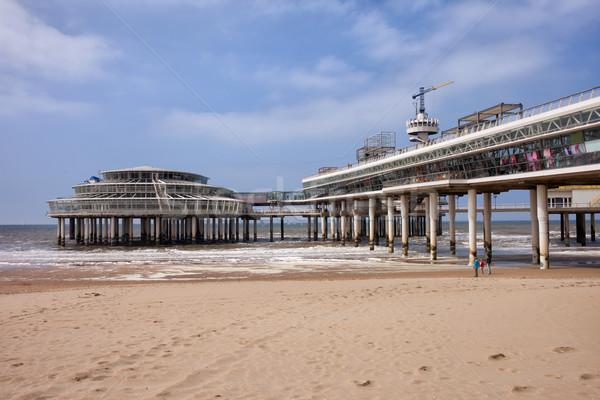 Scheveningen Beach and Pier in Hague Stock photo © rognar