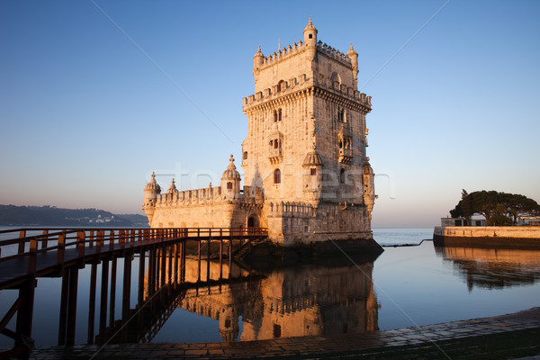 Morning at Belem Tower in Lisbon Stock photo © rognar