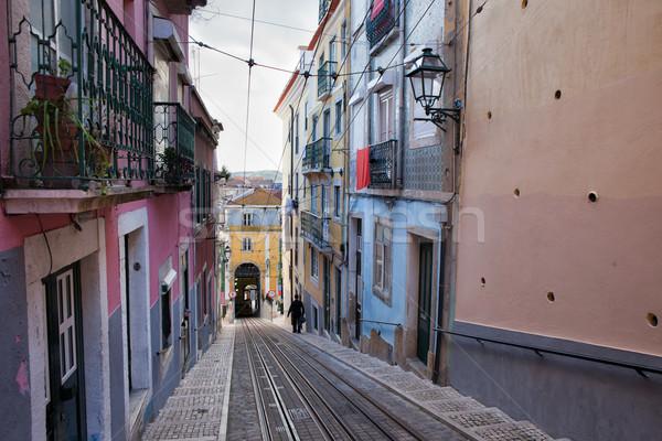 Lisboa ciudad Portugal edificio calle casas Foto stock © rognar