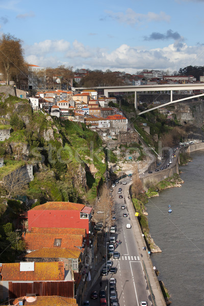 市 ポルトガル 川 エッフェル 通り ホーム ストックフォト © rognar
