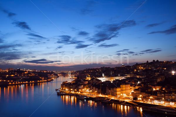 City of Porto in Portugal at Twilight Stock photo © rognar