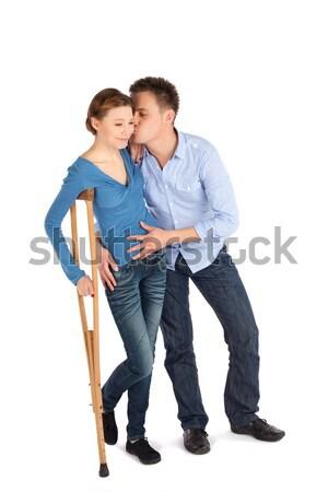Man Cheer Up Woman Stock photo © rognar