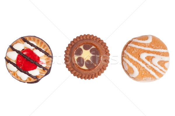 Drie knapperig biscuits heerlijk zoete cookies Stockfoto © rognar