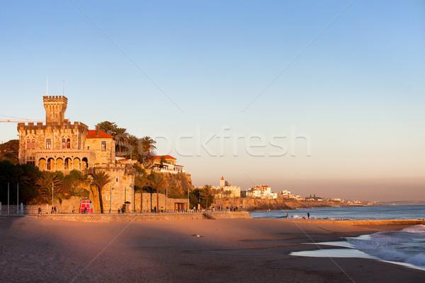 Tamariz Beach in Estoril at Sunset Stock photo © rognar