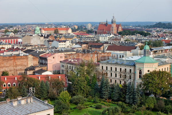 Kazimierz and Stradom from Above in Krakow Stock photo © rognar