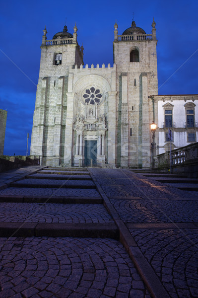 Porto Cathedral by Night in Portugal Stock photo © rognar