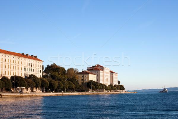 Bord de l'eau Croatie ville mer ciel eau Photo stock © rognar
