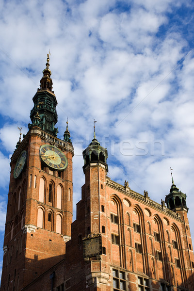 Hoofd- stadhuis gdansk stad Polen gothic Stockfoto © rognar
