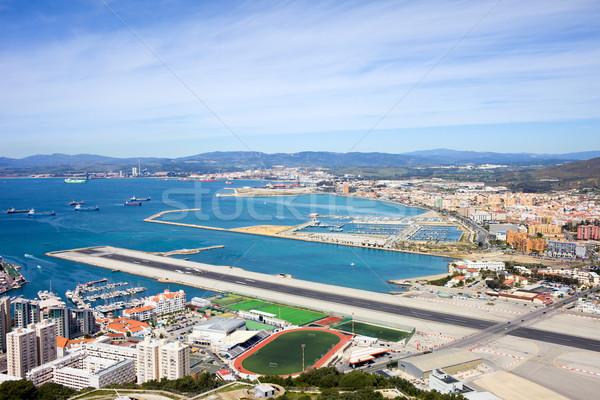 Gibraltar pista paisaje urbano aeropuerto España Foto stock © rognar