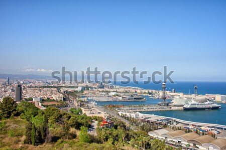 Barcelona Cityscape Stock photo © rognar