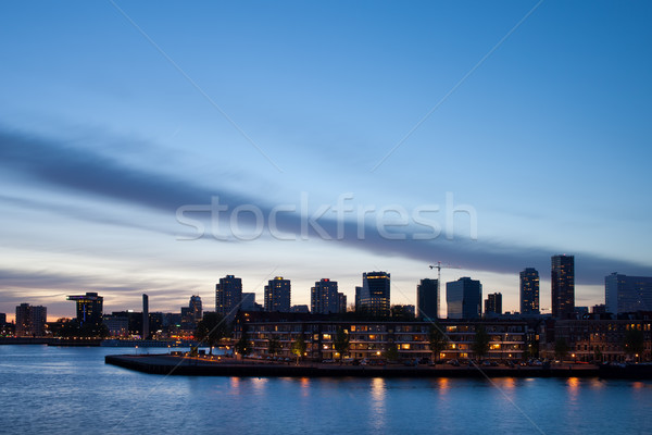 City Skyline of Rotterdam Stock photo © rognar
