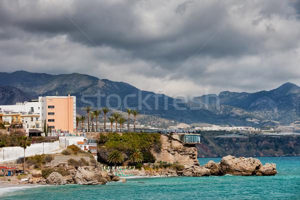 Town of Nerja in Spain Stock photo © rognar