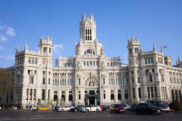 Madri cidade Espanha carro rua viajar Foto stock © rognar