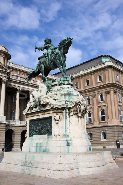 Statue of Prince Eugene of Savoy in Budapest Stock photo © rognar